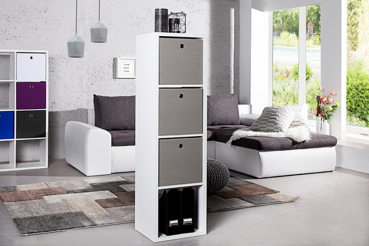 modernes design regal square 140cm weiss raumteiler 4 offene f cher riess. Black Bedroom Furniture Sets. Home Design Ideas