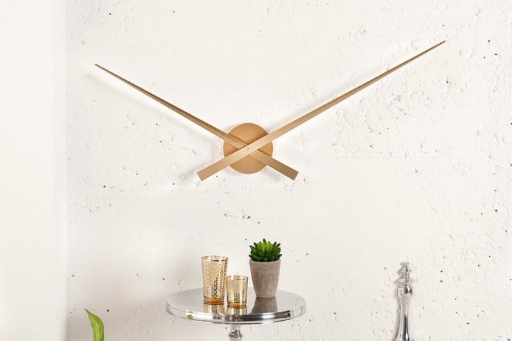 Riesige Design Wanduhr SIMPLE TIME gold 80cm
