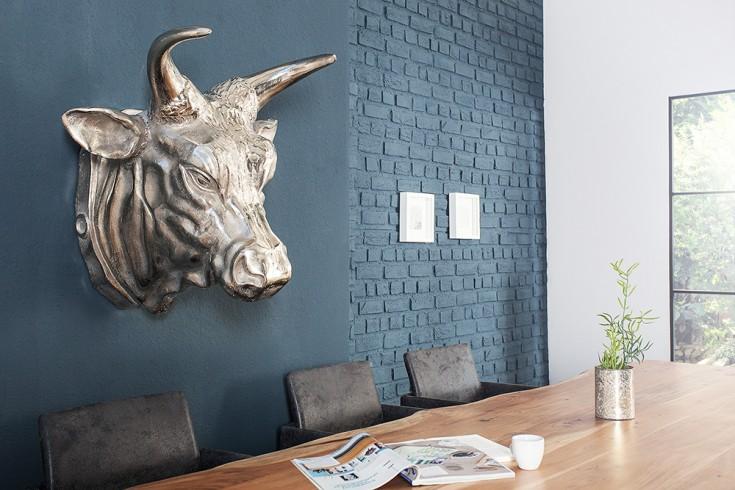 Eindrucksvoller Deko Schädel TORERO 55cm Metall - Aluminium - Legierung silber Skull vernickelt