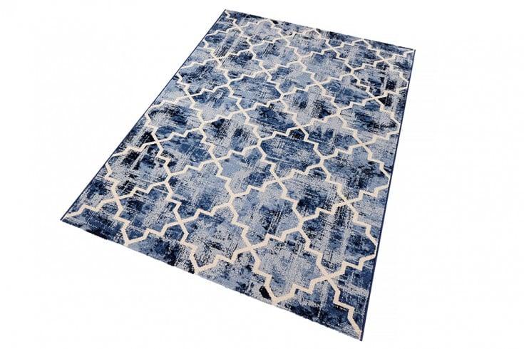 gro er retro design teppich timeless 160x230cm blau creme vintage riess. Black Bedroom Furniture Sets. Home Design Ideas