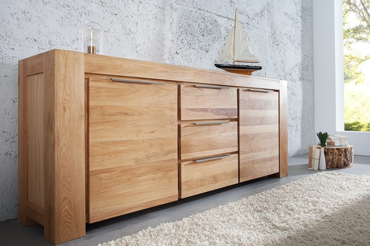 massives sideboard giant eiche 180cm natur ge lt riess. Black Bedroom Furniture Sets. Home Design Ideas