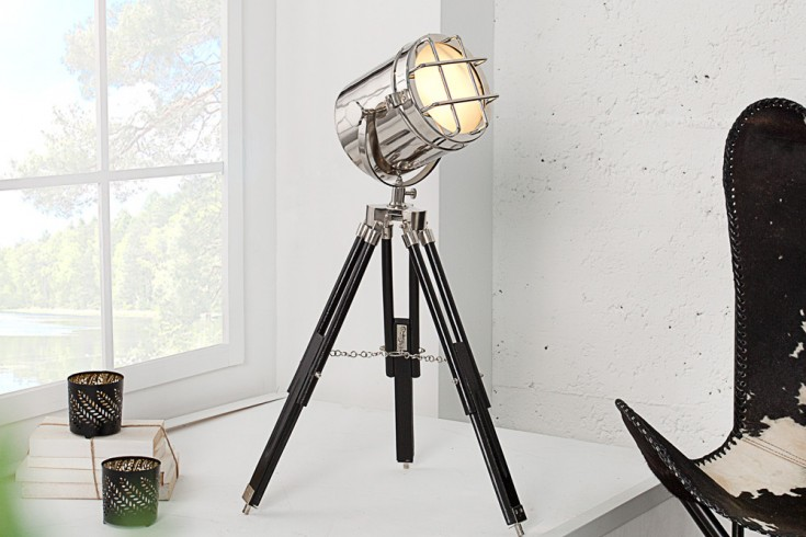 Retro Tischleuchte Tripod WALK OF FAME 70 cm chrome Dreibein
