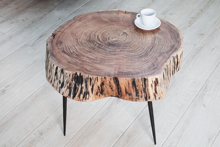 Großer original Baumstamm Couchtisch GOA 60 cm Akazie Massivholz