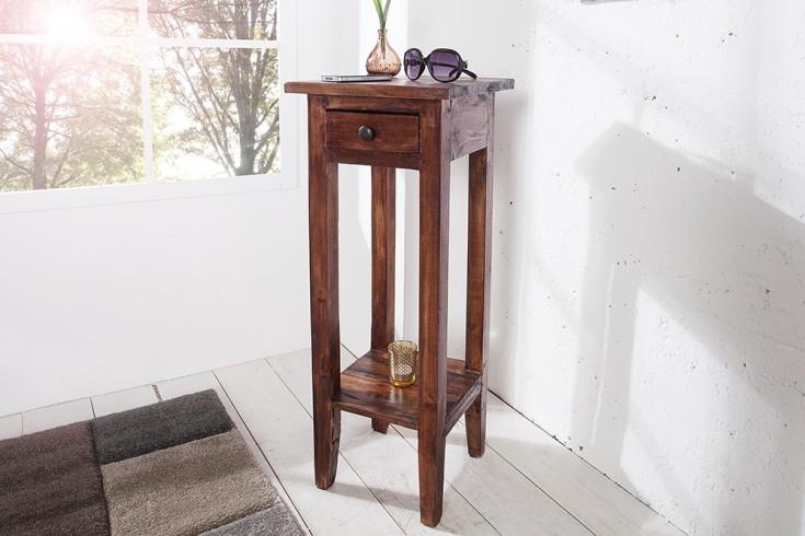Antiker Telefontisch HEMINGWAY Mahagoni Shabby Chic Coffee Beistelltisch Massivholz