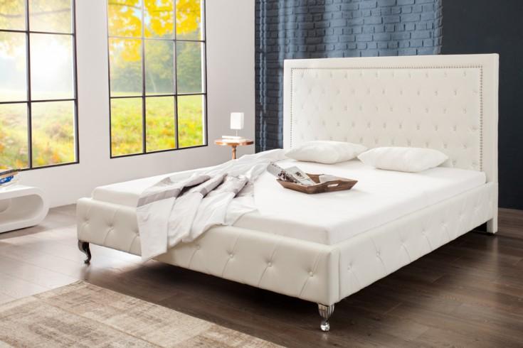 Modernes Design Doppelbett EXTRAVAGANCIA 180 x 200 cm weiß Polsterbett
