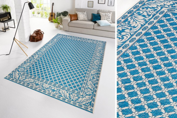 Eleganter In- & Outdoorteppich LOTUS Royal 160x230 cm blau Lotus Summer Collection