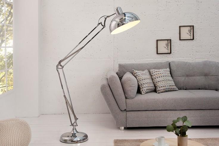 Stylische Stehleuchte LOFT 180cm Edelstahl chrom Stehlampe Industrial Design