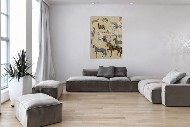 Handgemaltes Ölgemälde HERITAGE I hochwertiges Original in Galerie Qualität 120x90cm