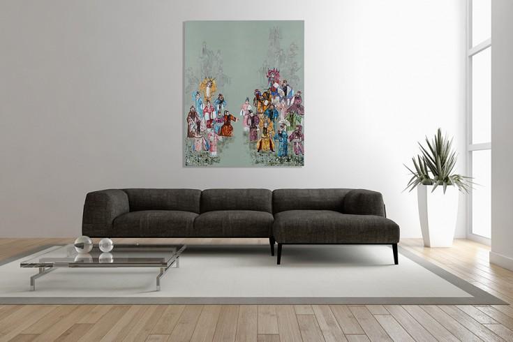 Handgemaltes Ölgemälde CHINESE OPERA I hochwertiges Original in Galerie Qualität 120x100cm