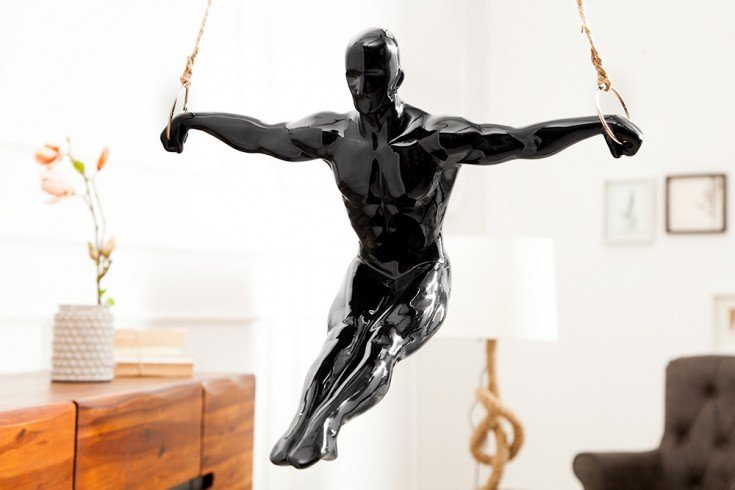 Statue ATHLET III  schwarz 50 cm Turner Dekofigur