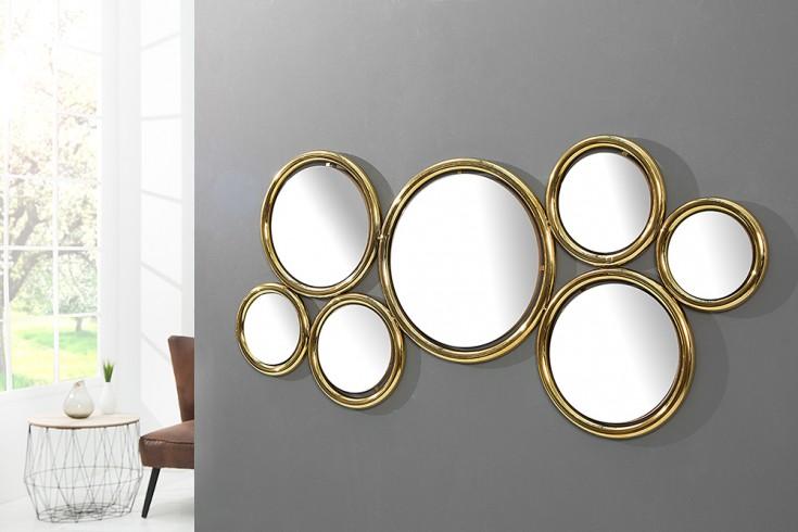 Eindrucksvoller Wandspiegel DYNAMIC gold 120 cm Spiegel Accessoire