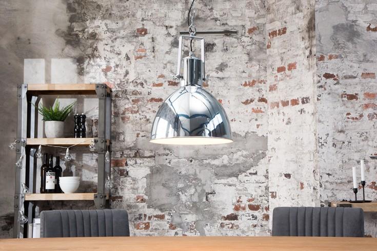 Design Hängelampe FACTORY II 40cm chrom Industrielampe Designklassiker