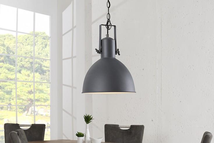 Design Hängelampe FACTORY II grau weiß 40 cm Industrielampe Designklassiker