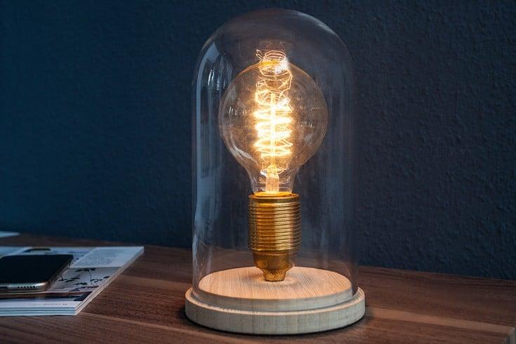 Industrial Tischlampe EDISON 22cm Glühbirne Tischleuchte