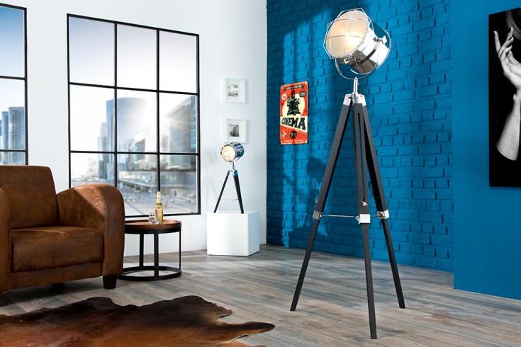 Höhenverstellbare Stehleuchte TRIPOD 150cm schwarz Industrial Design