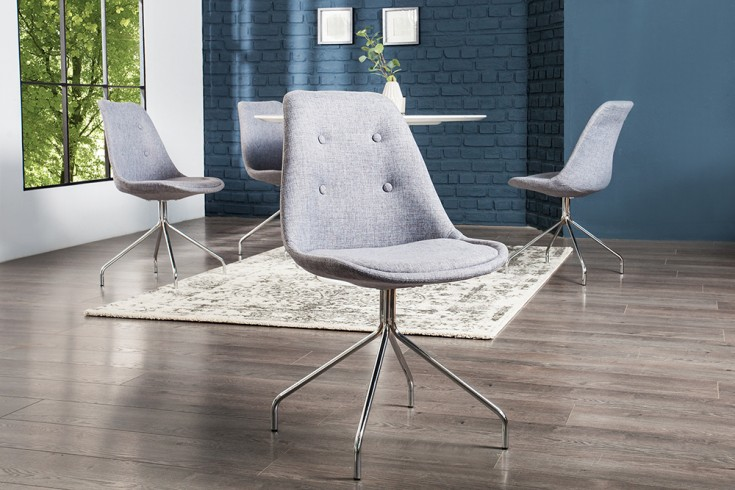 Zeitloser design stuhl spider grau mit hochwertig for Design stuhl grau
