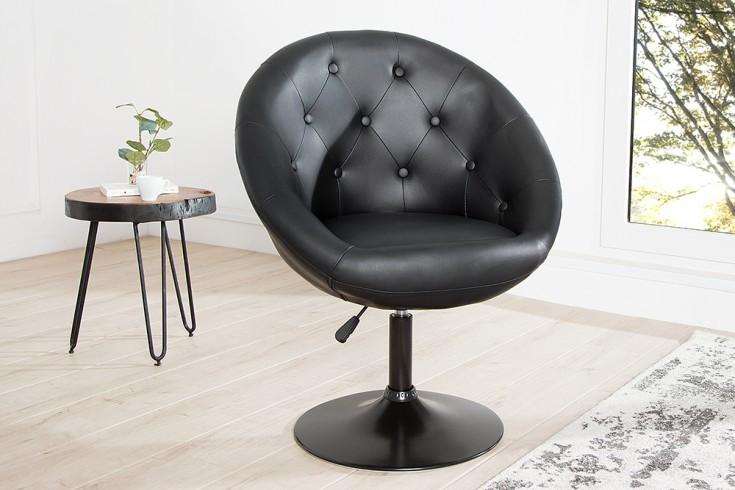 Design Drehsessel COUTURE schwarz höhenverstellbar im Loungedesign