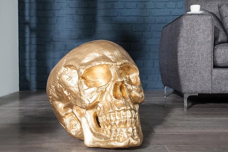 Riesiger Totenkopf SKULL XXL gold 40cm Deko-Schädel Totenschädel