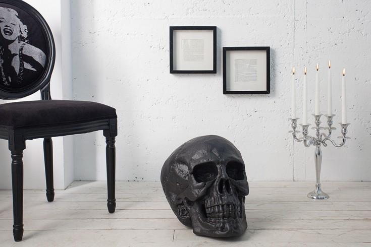 Riesiger Totenkopf SKULL XXL schwarz matt 40cm Deko-Schädel Totenschädel