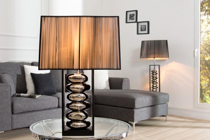 Moderne Tischlampe GRACIA  schwarz silber 55 cm