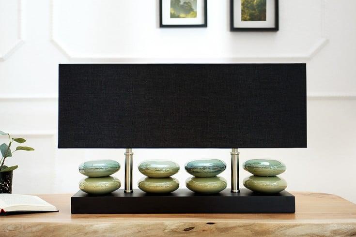 Ausdrucksstarke Stehleuchte LIQUID STONES Tischleuchte schwarz 55 cm