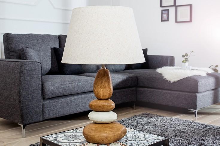 Imposante Tischleuchte STONES OF RIVER braun 55 cm
