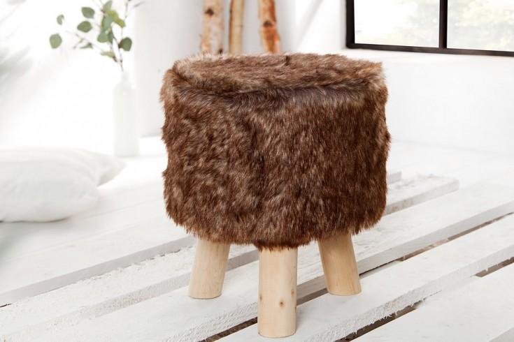 Design Fellhocker SIT braun Sitzhocker mit Fell