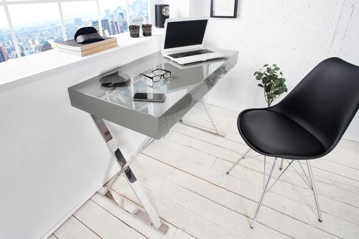 Design Schreibtisch GRACE 120 cm high gloss grau Schublade