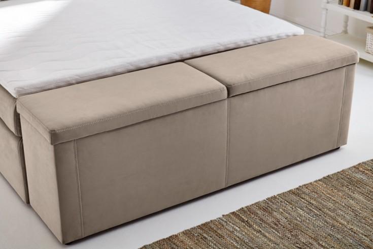 Design Hockerbank MAISON BELLE AFFAIRE 180 cm beige Bettbank