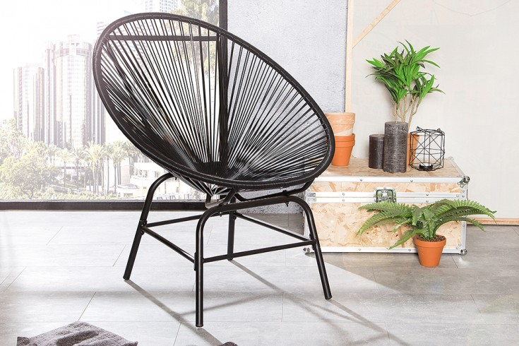 Designklassiker ACAPULCO Chair anthrazit Garten Pool Indoor Stuhl