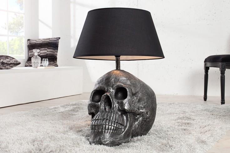 Exklusive Totenkopf Tischlampe ROCKSTAR by Geiss KARE DESIGN Skull schwarz