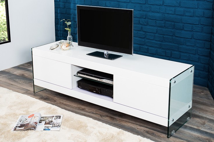 design tv lowboard hochglanz glas komposition riess. Black Bedroom Furniture Sets. Home Design Ideas