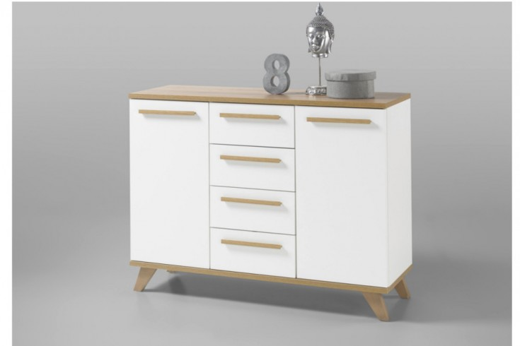 moderne design sideboard vancouver 120cm wei abgesetzte. Black Bedroom Furniture Sets. Home Design Ideas