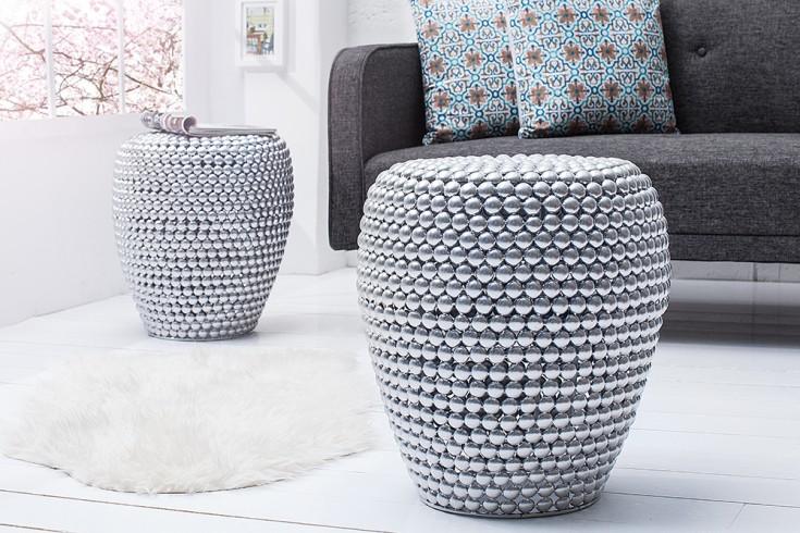 beistelltisch pearls silber 50 cm riess. Black Bedroom Furniture Sets. Home Design Ideas