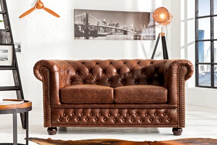 Designer ledersofa braun  Design 2-Sitzer: Sofas bequem & günstig | Riess-Ambiente.de