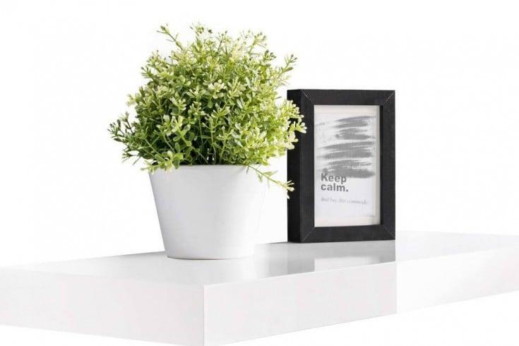Design Wandregal ICE 90cm High Gloss weiß Wandboard Regal