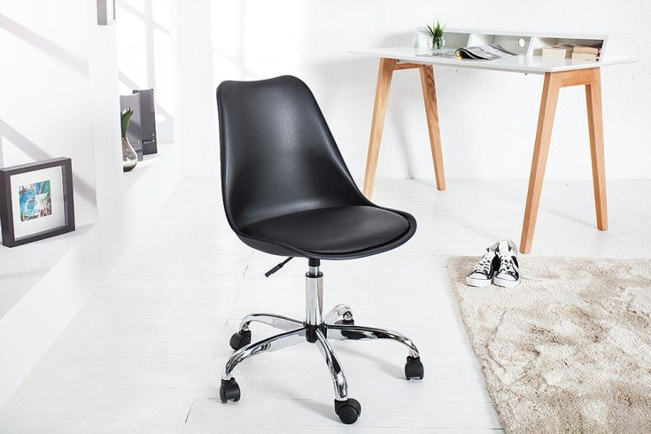 Bürostuhl designklassiker  Retro Designklassiker Bürostuhl SCANDINAVIA MEISTERSTÜCK schwarz ...