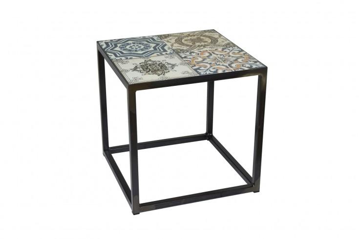 Design Beistelltisch MARRAKESCH 40 cm mit echten orientalischen Keramik-Fliesen