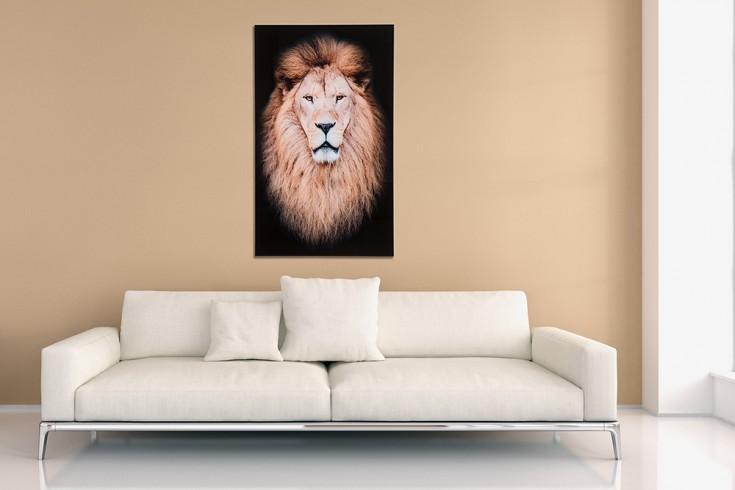 Eindrucksvolles Bild MUFASA 100x60cm Wandbild aus Glas Löwe