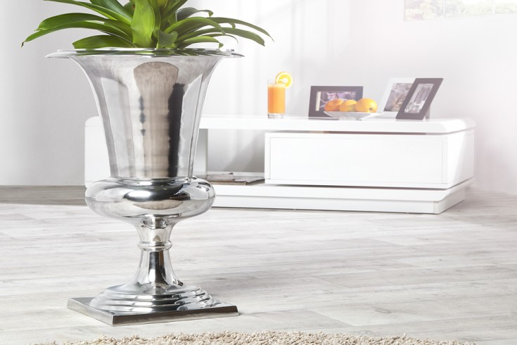 Design Vase GOAL Pflanzen Pokal 75 cm Metall-Aluminium-Legierung