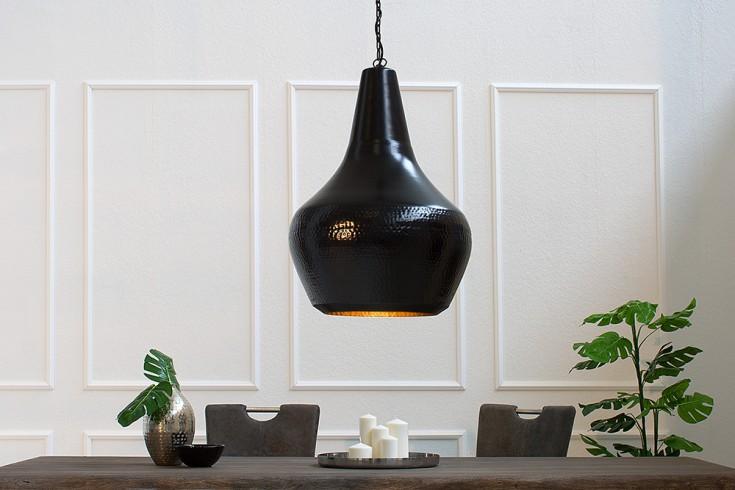 Design Hängeleuchte MODERN ORIENT L 56cm schwarz kupfer Messing