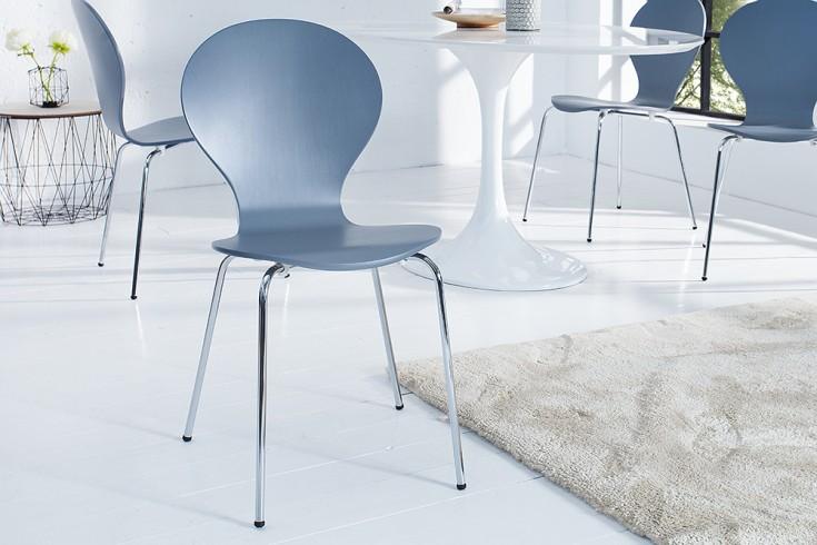 Design Stuhl FORM Designklassiker aus hochwertigem Formholz grau stapelbar