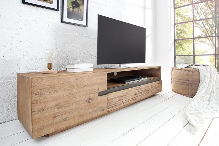 massives tv board wotan 170cm akazie massivholz teakgrau gek lkt riess. Black Bedroom Furniture Sets. Home Design Ideas
