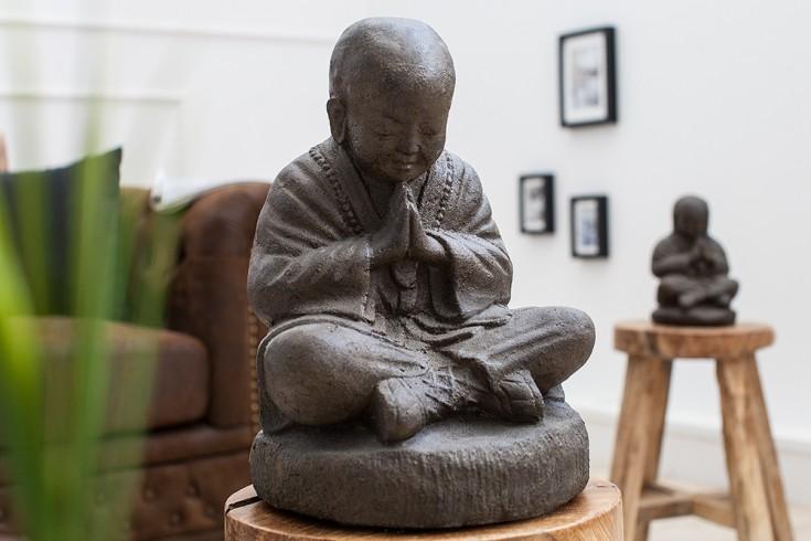 Opulente SHAOLIN BUDDHA Statue 25 cm aus Naturgestein outdoorfähig