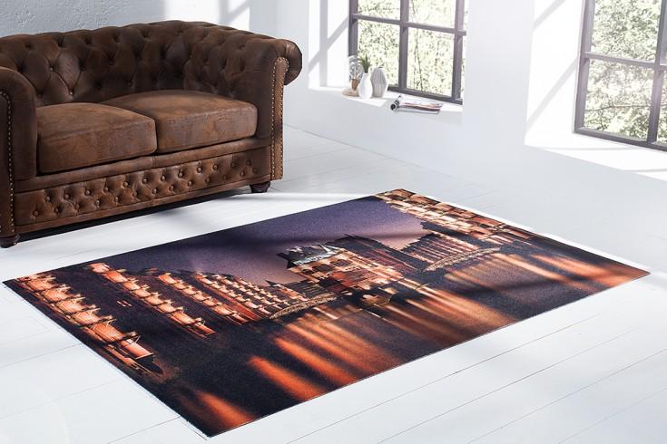 Hochwertiger Design Teppich HAMBURG SPEICHERSTADT 140x190cm Wasserschlösschen