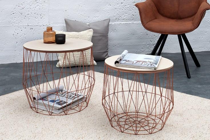 2er set couchtisch kupfer riess. Black Bedroom Furniture Sets. Home Design Ideas