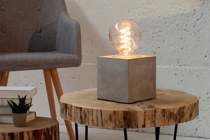 beton tischleuchte industrial design riess. Black Bedroom Furniture Sets. Home Design Ideas