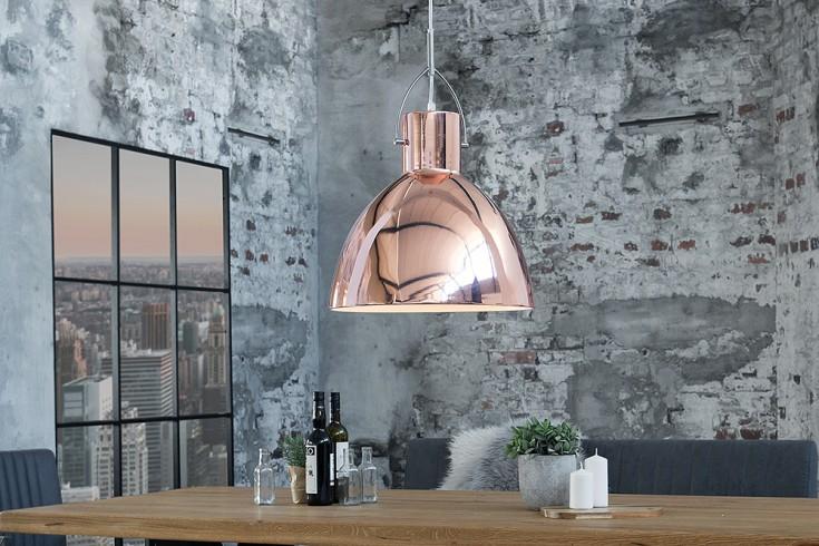 Stylische Hängeleuchte LEXINGTON L kupfer Industrial Design