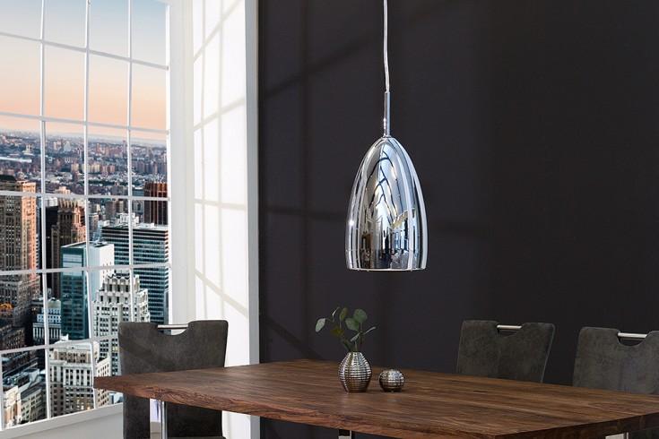 Stylische LED Hängeleuchte TEAR Chrom im modernen Design