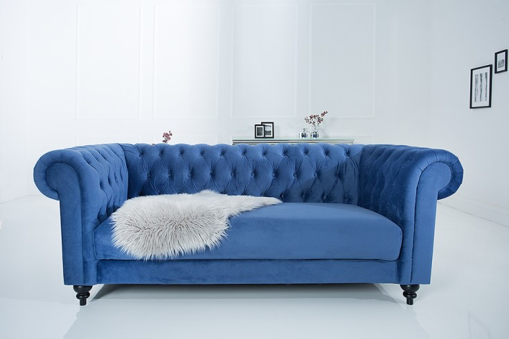Sofa Samt Blau : chesterfield sofa 200cm blau samt riess ~ Michelbontemps.com Haus und Dekorationen
